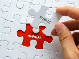 puzzelstukje met de tekst public affairs